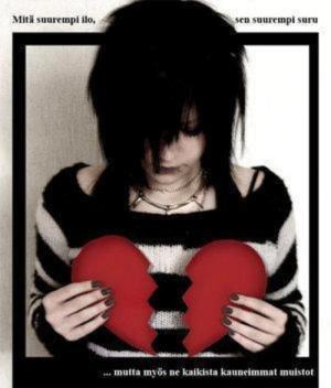 15 gambar emo patah hati dengan gambar gambar yang sedih dan Hati