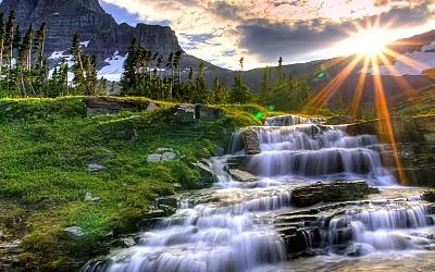 Gambar pemandangan alam di pagi hari