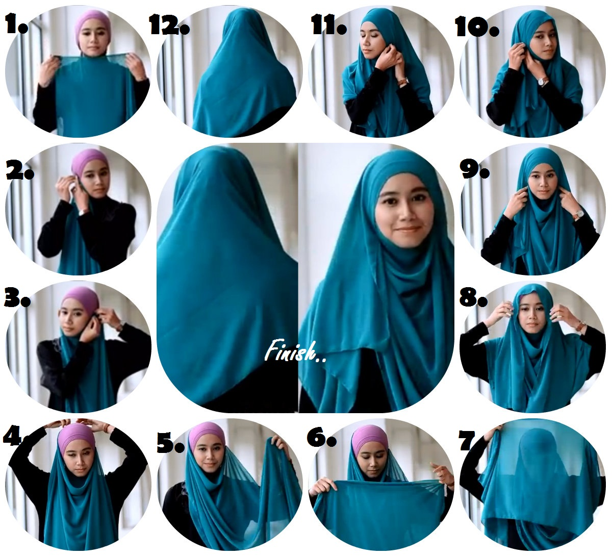 Published Januari 23, 2014 at 1200 × 1092 in cara berhijab