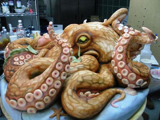 gambar kue ulang tahun gurita