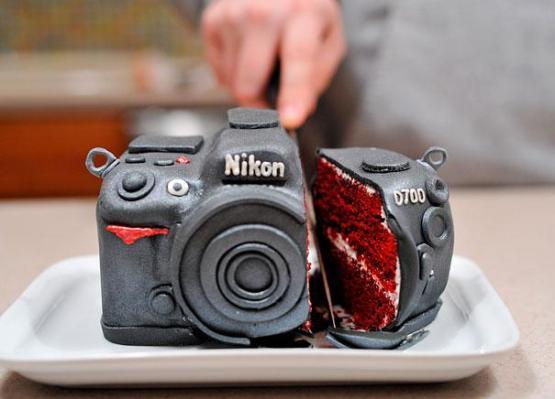 gambar kue ulang tahun kamera nikon
