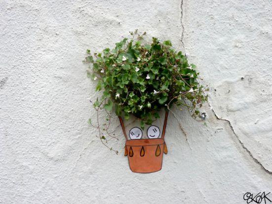 gambar lukisan dinding lucu untuk tanaman