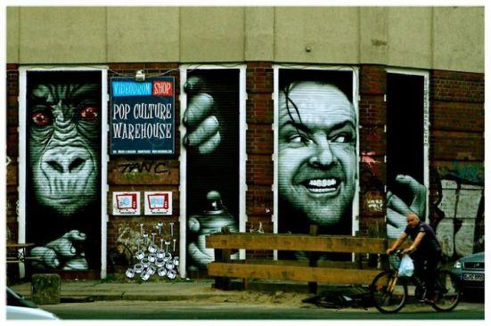 gambar lukisan dinding yang interaktif